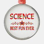 La mejor diversión de la ciencia adorno de navidad