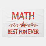 La mejor diversión de la matemáticas toallas de mano