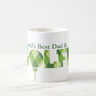 La mejor diversión del papá y del golfista del mun tazas