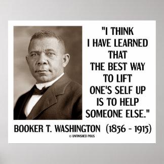 La mejor elevación de la manera del Booker T. Wash Poster