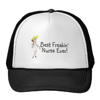 La mejor enfermera de Freakin nunca Gorros