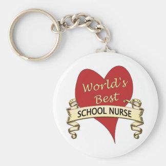 La mejor enfermera de la escuela del mundo llavero redondo tipo pin
