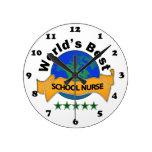 La mejor enfermera de la escuela del mundo reloj
