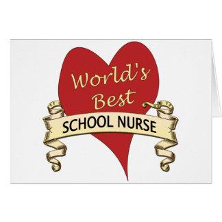 La mejor enfermera de la escuela del mundo tarjeta de felicitación