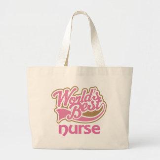 La mejor enfermera de los mundos rosados lindos bolsas de mano