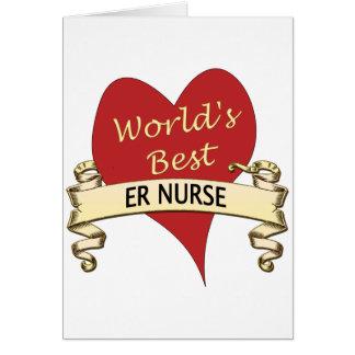 La mejor enfermera del ER del mundo Tarjeta De Felicitación