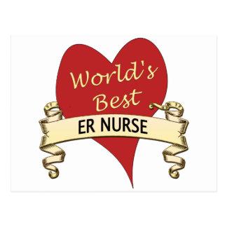 La mejor enfermera del ER del mundo Tarjeta Postal