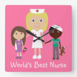 La mejor enfermera del mundo lindo con el reloj ro