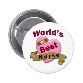 La mejor enfermera del mundo pin redondo 5 cm