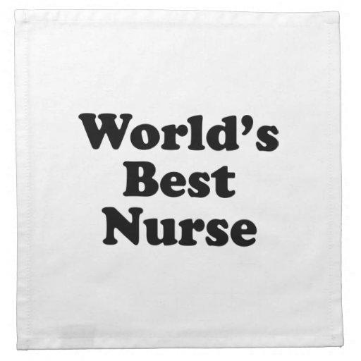 La mejor enfermera del mundo servilleta