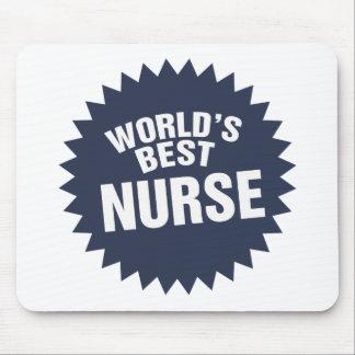 La mejor enfermera del mundo alfombrillas de ratones