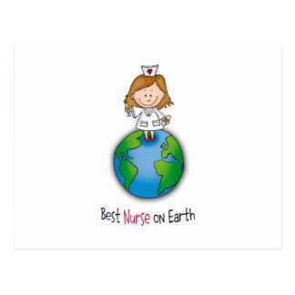 La mejor enfermera en la tierra - día de las tarjetas postales