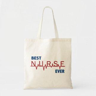 La mejor enfermera nunca bolsa tela barata
