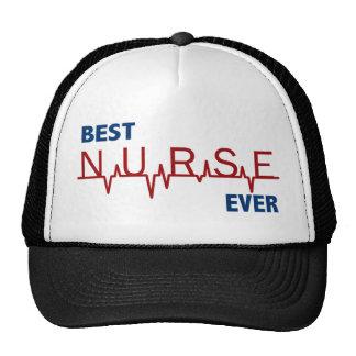 La mejor enfermera nunca gorras de camionero