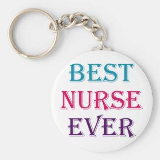 La mejor enfermera nunca llavero redondo tipo pin