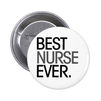 La mejor enfermera nunca pin redondo 5 cm