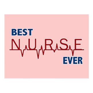 La mejor enfermera nunca tarjeta postal