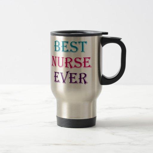 La mejor enfermera nunca taza de viaje