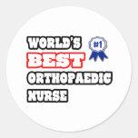 La mejor enfermera ortopédica del mundo pegatina