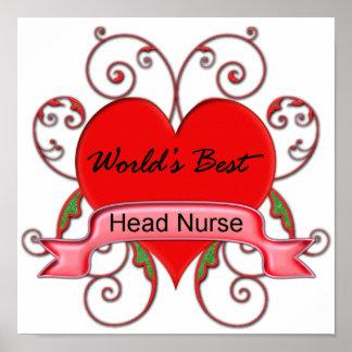 La mejor enfermera principal del mundo póster