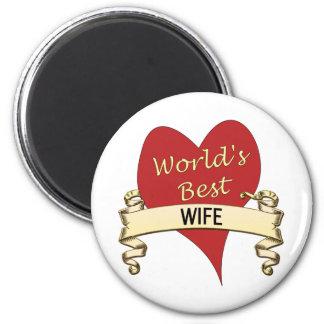 La mejor esposa del mundo imán redondo 5 cm