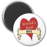La mejor esposa del mundo imán para frigorifico