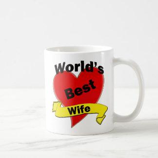 La mejor esposa del mundo taza básica blanca