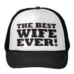 La mejor esposa nunca gorras de camionero