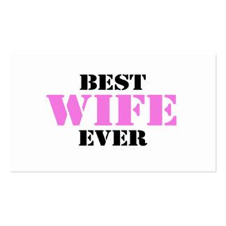 La mejor esposa nunca tarjetas de visita