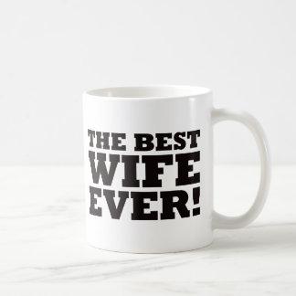 La mejor esposa nunca tazas de café