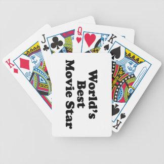 La mejor estrella del cine del mundo baraja cartas de poker