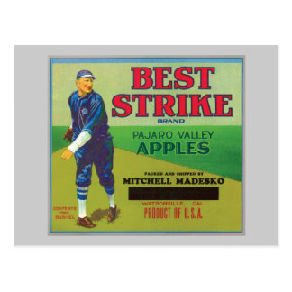 La mejor etiqueta de las manzanas de la marca de l tarjeta postal