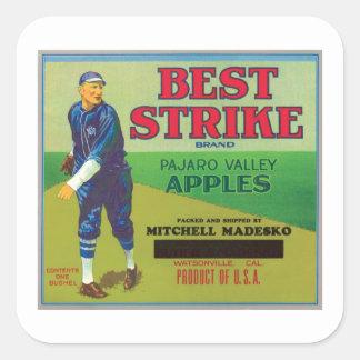 La mejor etiqueta de las manzanas de la marca de