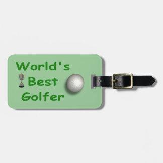 La mejor etiqueta del equipaje del golfista del mu etiquetas bolsas