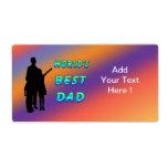 La mejor etiqueta del papá del mundo etiqueta de envío