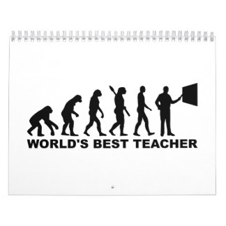 La mejor evolución del profesor del mundo calendario