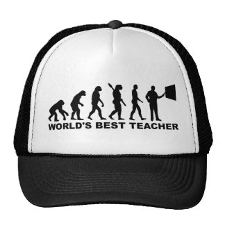 La mejor evolución del profesor del mundo gorros