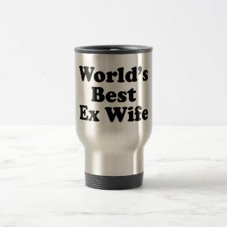 La mejor ex esposa del mundo taza de viaje de acero inoxidable