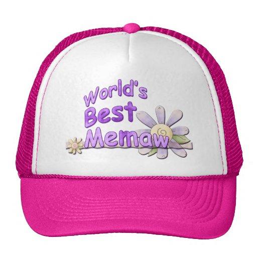 La mejor flor de Memaw de los mundos Gorro
