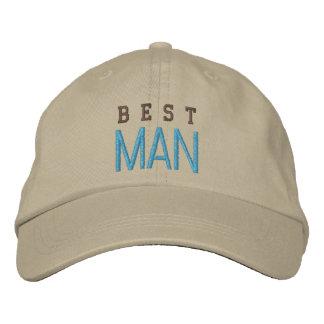 La mejor gorra de béisbol del azul del soltero del