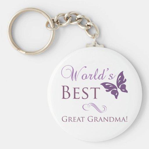 La mejor gran abuela del mundo llavero personalizado