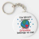 La mejor gran abuela pertenece a mí llavero