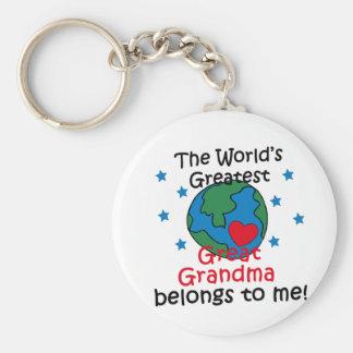 La mejor gran abuela pertenece a mí llavero redondo tipo pin