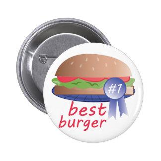 La mejor hamburguesa pin redondo de 2 pulgadas