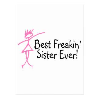 La mejor hermana de Freakin nunca Tarjetas Postales