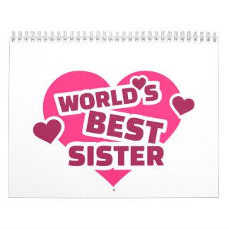 La mejor hermana del mundo calendarios