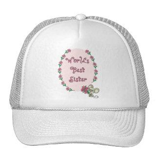 La mejor hermana del mundo gorras