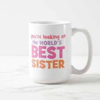 La mejor hermana del mundo tazas de café