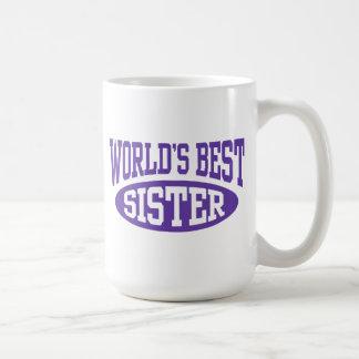 La mejor hermana del mundo taza de café