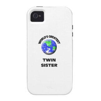 La mejor hermana gemela del mundo Case-Mate iPhone 4 fundas